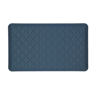 Casual Geometric Blue Rectangular: 1 Ft. 6 In. x 2 Ft. 6 In. Rug