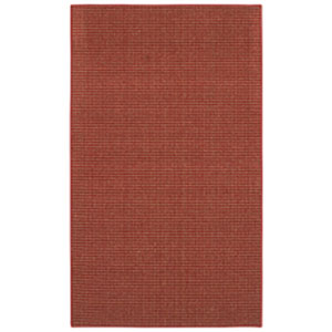 Casual Border Crimson Rectangular: 2 Ft. 6 In. x 3 Ft. 10 In.