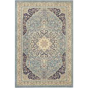 Traditional Blue Rectangular: 5 Ft. 3 In. x 7 Ft. 10 In. Rug
