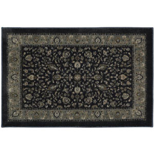 Traditional Navy Rectangular: 1 Ft. 8 In. x 2 Ft. 10 In. Rug