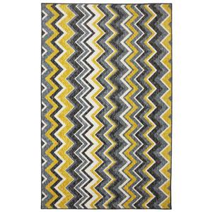 Contemporary Yellow Rectangular: 8 Ft. x 10 Ft. Rug Rug