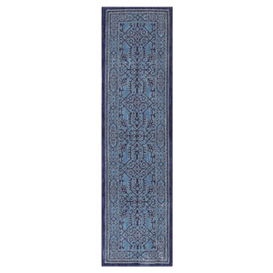 Traditional Blue Runner: 2 Ft. 1 In. x 7 Ft. 10 In. Rug
