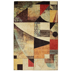 Contemporary Multicolor Rectangular: 6 Ft. x 9 Ft. Rug