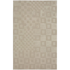 Contemporary Cream Rectangular: 5 Ft. x 8 Ft. Rug
