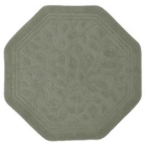 Casual Sage Green Octagon: 4 Ft. x 4 Ft. Rug