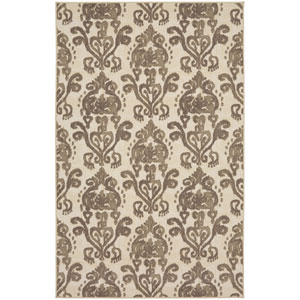 Transitional Cream Rectangular: 5 Ft. x 8 Ft. Rug