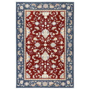 Traditional Multicolor Rectangular: 3 Ft. 5 In. x 5 Ft. 2 In. Rug