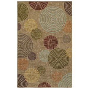 Contemporary Multicolor Rectangular: 8 Ft. x 10 Ft. Rug