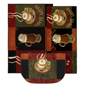 Casual Brown Wedge: 2 Ft. 6 In. x 3 Ft. 10 In., Set of Three Rugs