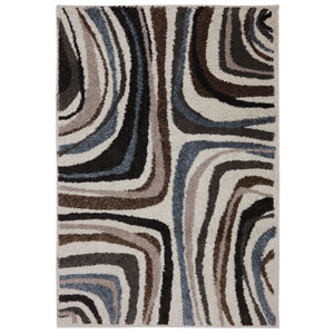 Contemporary Multicolor Rectangular: 5 Ft. 3 In. x 7 Ft. 10 In. Rug