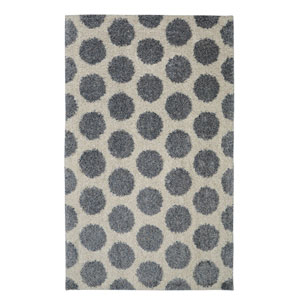 Contemporary Blue Rectangular: 5 Ft. x 8 Ft. Rug