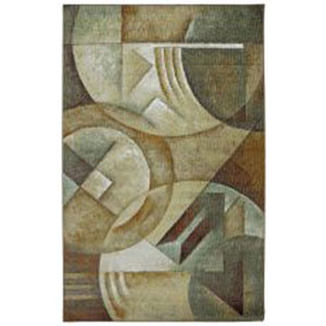 Contemporary Multicolor Rectangular: 5 Ft. x 8 Ft. Rug