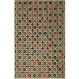 Transitional Multicolor Rectangular: 5 Ft. x 7 Ft. Rug