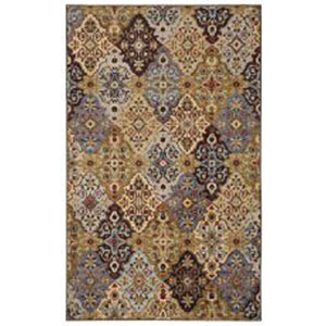 Traditional Multicolor Rectangular: 5 Ft. x 7 Ft. Rug