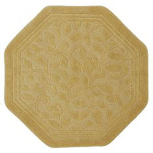 Casual Gold Octagon: 4 Ft. x 4 Ft. Rug