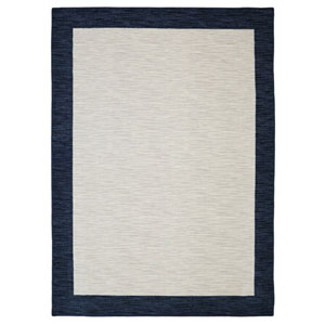 Transitional Blue Rectangular: 7 Ft. 6 In. x 10 Ft. Rug