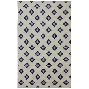 Casual Blue Rectangular: 7 Ft. 6 In. x 10 Ft. Rug