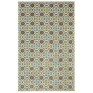 Contemporary Aqua Rectangular: 5 Ft. x 8 Ft. Rug