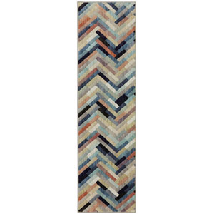 Contemporary Multicolor Runner: 2 Ft. 1 In. x 7 Ft. 10 In. Rug