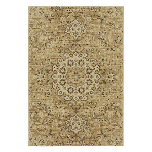 Transitional Tan Rectangular: 5 Ft. 3 In. x 7 Ft. 10 In. Rug