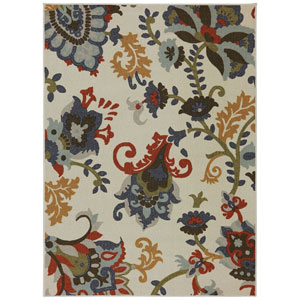 Transitional Multicolor Rectangular: 5 Ft. x 8 Ft. Rug