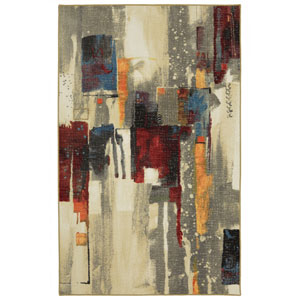 Contemporary Abstract Multicolor Rectangular: 5 Ft. x 7 Ft. Rug