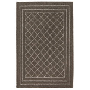 Casual Geometric Brindle Rectangular: 2 Ft. 6 In. x 3 Ft. 10 In.