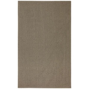 Casual Solid Taupe Rectangular: 5 Ft. x 7 Ft.