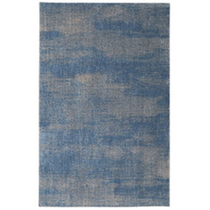 Contemporary Shag Blue Rectangular: 8 Ft. x 10 Ft.