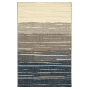 Transitional Striped Blue Rectangular: 10 Ft. x 14 Ft.