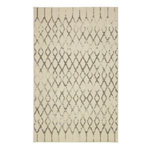 Transitional Geometric Cream Rectangular: 5 Ft. x 8 Ft.