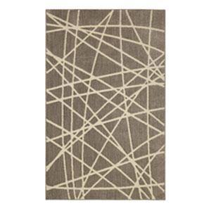 Transitional Geometric Gray Rectangular: 8 Ft. x 10 Ft.
