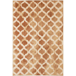 Transitional Geometric Almond Buff Rectangular: 5 Ft. 3 In. x 7 Ft. 10 In. Rug