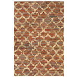 Transitional Geometric Multicolor Rectangular: 5 Ft. 3 In. x 7 Ft. 10 In. Rug