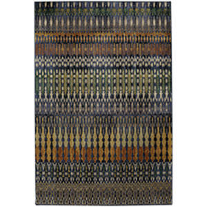 Contemporary Striped Periwinkle Rectangular: 9 Ft. 6 In. x 12 Ft. 11 In.