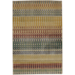 Contemporary Striped Multicolor Rectangular: 8 Ft. x 11 Ft.