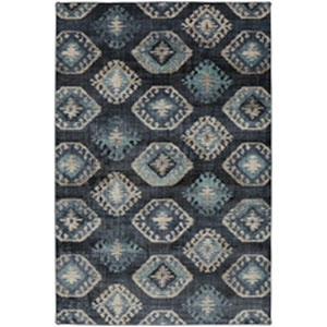 Contemporary Ornamental Admiral Blue Rectangular: 5 Ft. 3 In. x 7 Ft. 10 In.