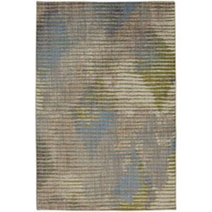 Contemporary Striped Dark Linen Rectangular: 5 Ft. 3 In. x 7 Ft. 10 In.