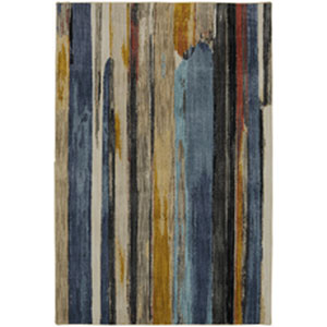 Contemporary Striped Multicolor Rectangular: 9 Ft. 6 In. x 12 Ft. 11 In.
