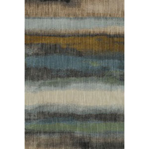 Contemporary Striped Gunmetal Rectangular: 9 Ft. 6 In. x 12 Ft. 11 In.