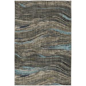 Contemporary Striped Dark Linen Rectangular: 8 Ft. x 11 Ft.