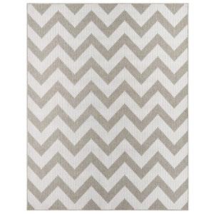 Contemporary Stripe Gray Rectangular: 8 Ft. x 10 Ft. Rug