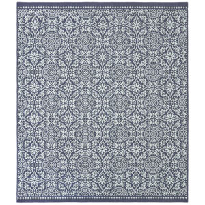 Transitional Ornamental Navy Rectangular: 5 Ft. 3 In. x 7 Ft. 6 In. Rug