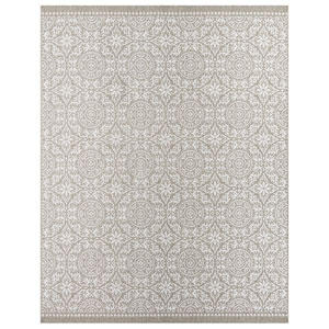 Transitional Ornamental Gray Rectangular: 5 Ft. 3 In. x 7 Ft. 6 In. Rug