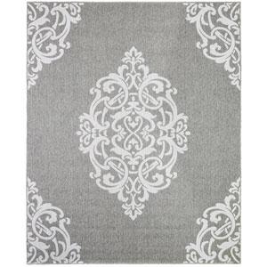 Transitional Ornamental Gray Rectangular: 8 Ft. x 10 Ft. Rug