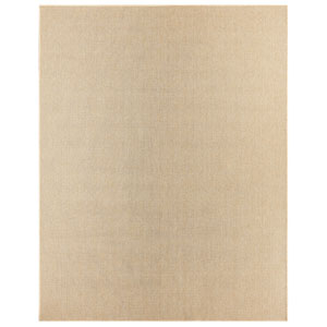 Casual Solid Natural Rectangular: 8 Ft. x 10 Ft. Rug