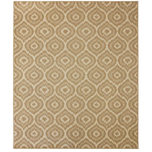 Contemporary Geometric Natural Rectangular: 5 Ft. 3 In. x 7 Ft. 6 In. Rug