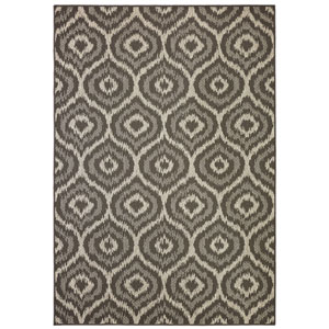 Contemporary Geometric Onyx Rectangular: 5 Ft. 3 In. x 7 Ft. 6 In. Rug