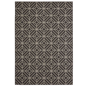 Contemporary Geometric Onyx Rectangular: 8 Ft. x 10 Ft. Rug