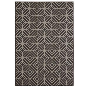 Contemporary Geometric Onyx Rectangular: 9 Ft. x 12 Ft. Rug